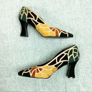 J Renee mosaic heels